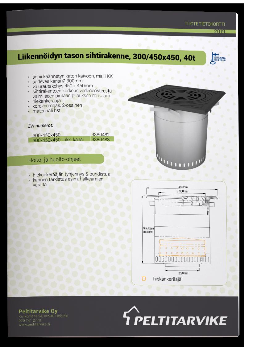 Peltitarvike LTSK 300/450x450 - tuotetiedot
