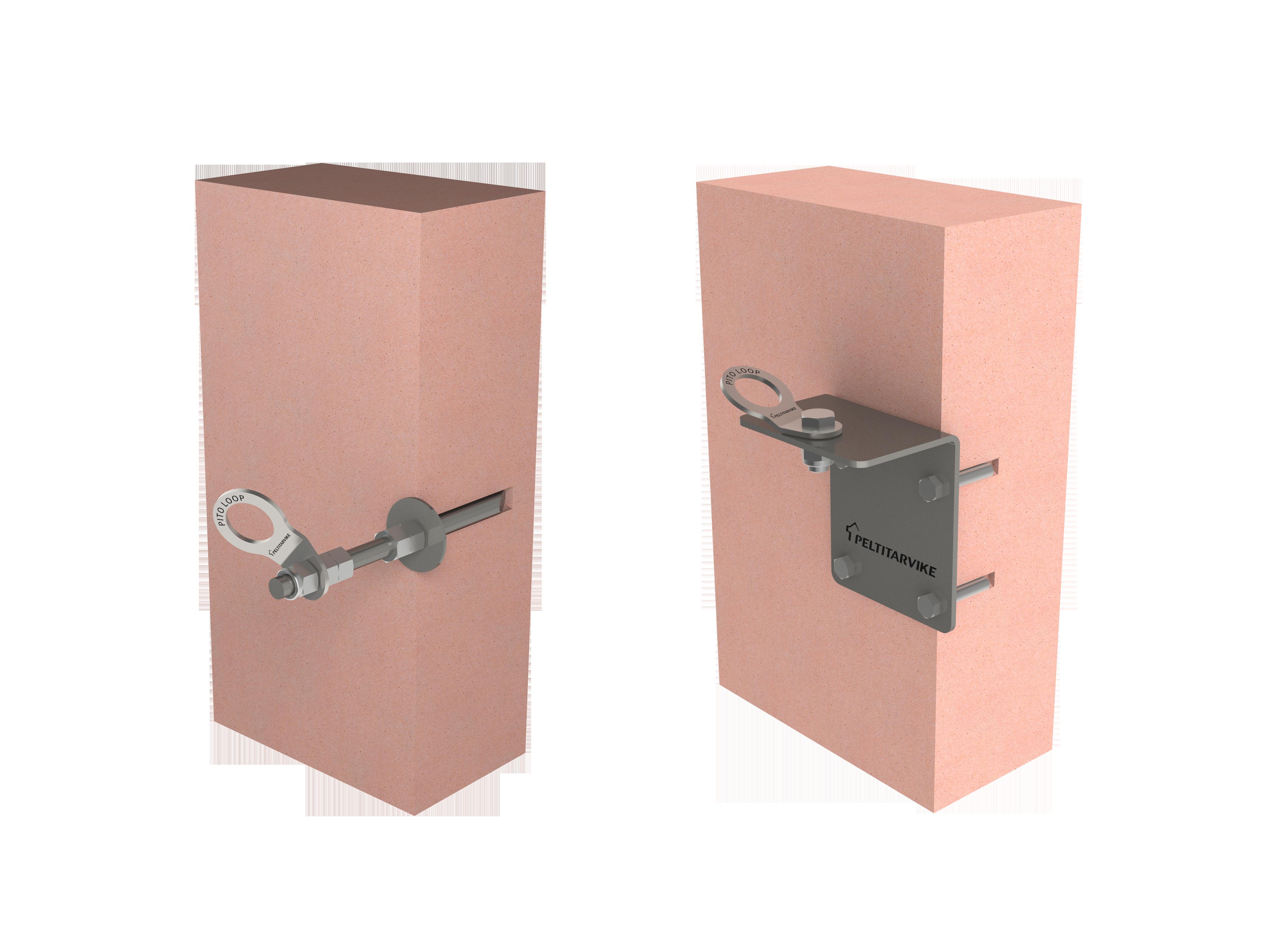 Pito Loop turvalaitteiden kiinnityspiste seinään